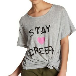 NWT WILDFOX GRAPHIC TEE SIZE L STAY CREEPY